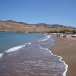 Petra Beach near Molyvos. This small town has some excellent hotels with splendid views of Molyvos.