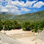 Epidavros is set amongst some particularly stunning Peloponnesian landsacape.