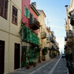 Typical cobbled street in the old town at Nafplio.