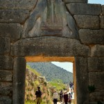 The Lion's Gate, main entrance to the Mycenaean citadel
