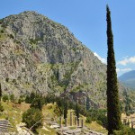View across the valley at Delphi