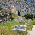 The plinth where the high priestess sat at Delphi