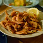 Fresh, locally sourced shrimp at Maritsa's