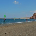 Learn windsurfing at Kouremenos