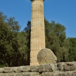 One of the mighty columns of the Temple of Zeus