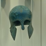 The museum has a fine collection of remarkably well preserved helmets dating back to the classical period, including one worn by the Greek General Miltiades at the battle of Marathon