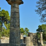 Doric column in the Temple of Hera.
