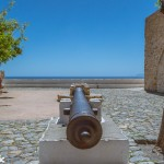 The cannon in the main square points out over the Argo-Saronic gulf.