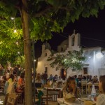 Dinner at the Chora's main square