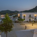 The Chora's main square in the evening