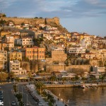 Kavala Port at sunset