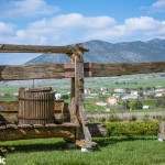 The old wine press at the entrance to the Kostas Lazaridis estate
