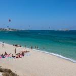 Kite surfing at Mikri Vigla