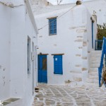 Alley ways in the Kastro are typically Cycladic