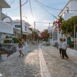 Shopping on Antiparos's main drag