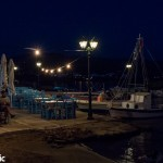 Part of the working port at night